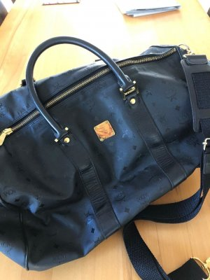 MCM Weekender Bag black synthetic material