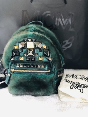 MCM Shoulder Bag bronze-colored-forest green pelt