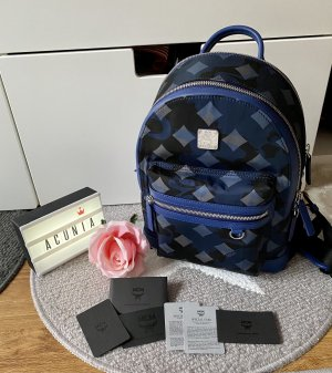 MCM Laptop Backpack dark blue-blue