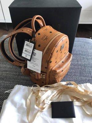 MCM Mały plecak cognac-czarny