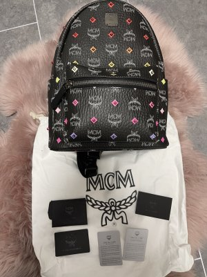 MCM Laptop Backpack black-white