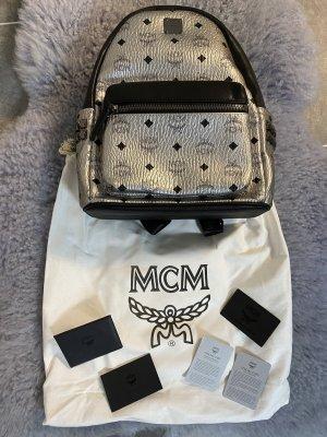 MCM Laptop rugzak zilver-zwart