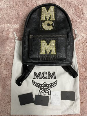 MCM Laptop Backpack black-white