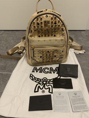 MCM Sac à dos pour ordinateur portable crème-beige
