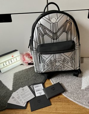 MCM Backpack Trolley black-silver-colored