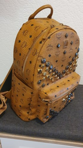 MCM Laptop Backpack cognac-coloured