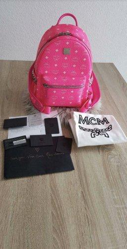 MCM Backpack Trolley pink