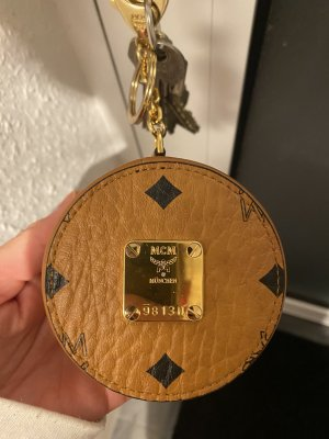 MCM Key Chain brown-gold-colored