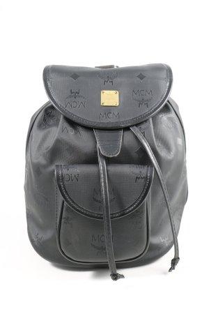MCM Plecak szkolny czarny Wydrukowane logo W stylu casual