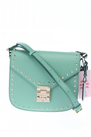 """MCM Schoudertas """"Patricia Studded Shoulder Small"""" turkoois"""