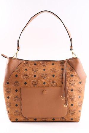 MCM Shoulder Bag brown-black allover print casual look