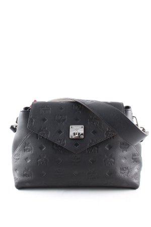 MCM Shoulder Bag black allover print business style