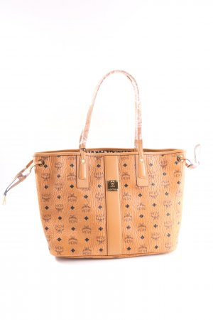 MCM Shopper brown allover print casual look