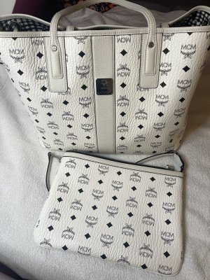 MCM Shopper blanc cuir