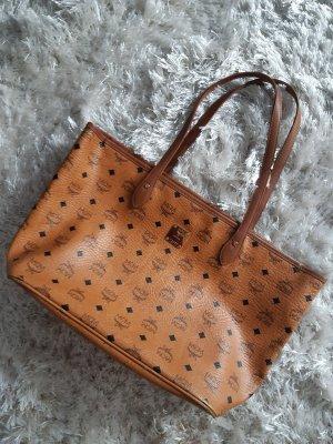 MCM Torba shopper brązowy-cognac
