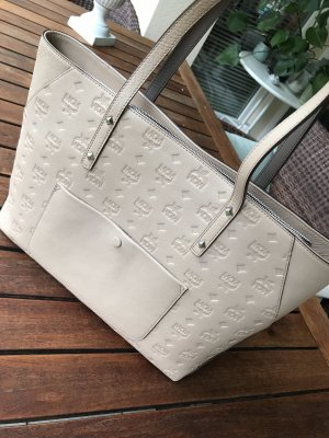 MCM Shopper natural white leather