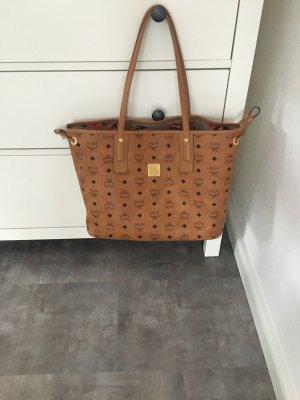 MCM Carry Bag cognac-coloured-black