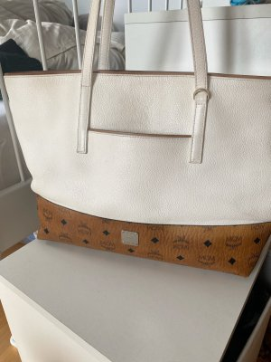 MCM Shopper cognac-coloured-white