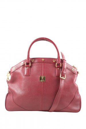 MCM Shopper red casual look