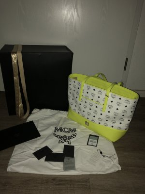 MCM Shopper neon yellow-white