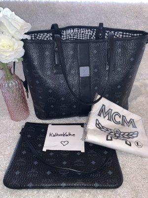 MCM Shopper Medium Black mit Pochette