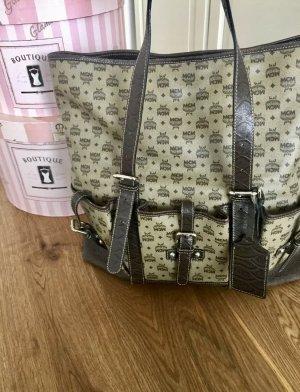 MCM Shopper Tasche beige braun 100% Original