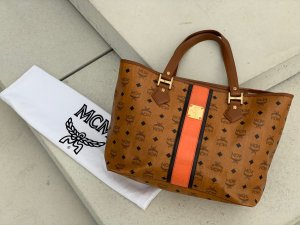 MCM Shopper Tasche Visetos cognac