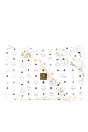 MCM Shopper white-black allover print casual look