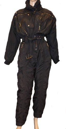 MCM Pantalón de esquí negro poliamida