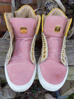 MCM High top sneaker roségoud Leer