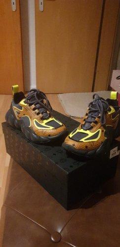 MCM Sneaker alta nero-bronzo