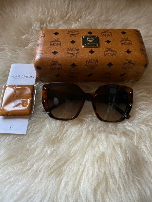 MCM Oval Sunglasses brown-cognac-coloured