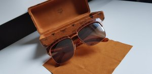 MCM Hoekige zonnebril donker oranje-roodbruin
