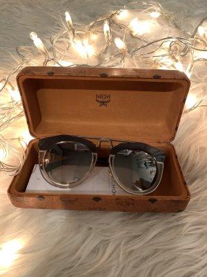 MCM Oval Sunglasses silver-colored-black