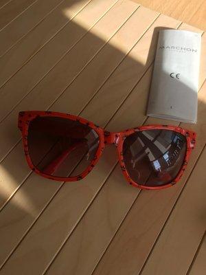 MCM Hoekige zonnebril veelkleurig