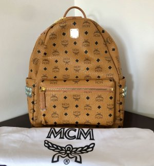 MCM School Backpack gold-colored-cognac-coloured