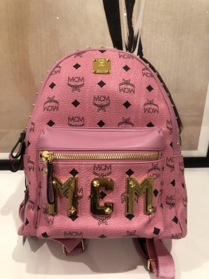 MCM School Backpack pink-gold-colored