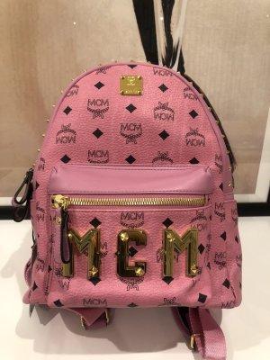 MCM Mochila escolar rosa-color oro