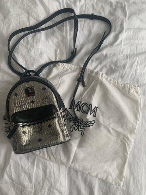 MCM Gekruiste tas zwart-zilver Leer