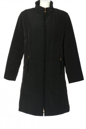 MCM Quilted Coat black quilting pattern casual look