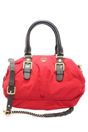 MCM Bolso de tela rojo-negro look casual