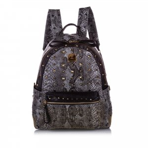 MCM Studded Embossed Visetos Backpack