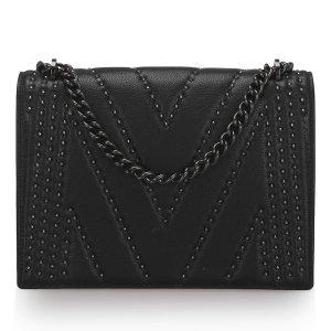 MCM Studded Leather Chain Shoulder Bag
