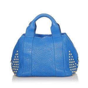 MCM Satchel blue leather