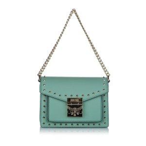 MCM Satchel turquoise leather