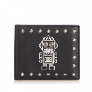 MCM Studded Robot Bifold Wallet