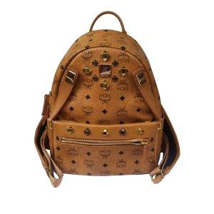 MCM Studded Visetos Stark Leather Backpack