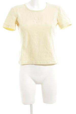 MCM T-Shirt blassgelb Schriftzug gestickt Casual-Look