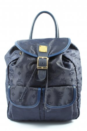 MCM Daypack blue allover print casual look