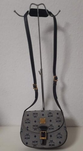 MCM Gekruiste tas grijs-donkerblauw